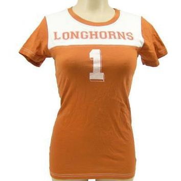 Licensed Texas Longhorns Official NCAA small Football Slub Shirt UT by Glitter Gear KO_19_1