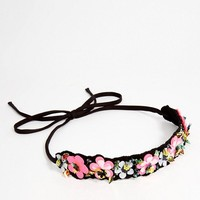 ASOS Sequin Cluster Flower Headband at asos.com