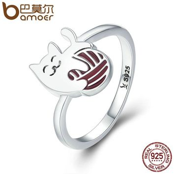 BAMOER Exquisite Play Ball Little Cat Ring