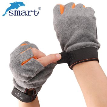 Smart Winter Fishing Goves 3 Cut Finger Anti-Slip Half Finger Riding Glove Warm 1Pair Durable Gloves Outdoor Hunting Gloves
