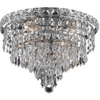 Karci - Flush Mount (4 Light Modern Flush Mount Crystal Chandelier) - 2148F12