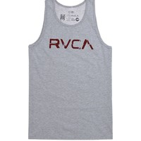 RVCA Overlap Tank Top - Mens Tee - Grey