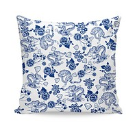 Fine China Couch Pillow
