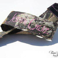 Custom Camo Camera Strap, DSLR Camera Strap, Embroidered Camera Strap, Canon, Nikon, Hunting Camera Strap