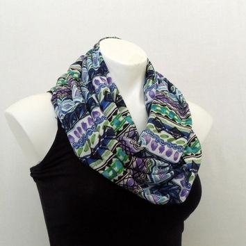 Purple/Blue Aztec Infinity Scarf