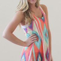 Colorful Abstract Racerback Tank Top