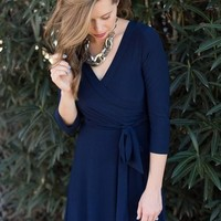 The Jonna Wrap Maxi - Navy