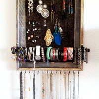 12x16 Custom Barn Wood Jewelry Organizer