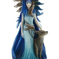 Hekate Woman with Wolves Sculpture