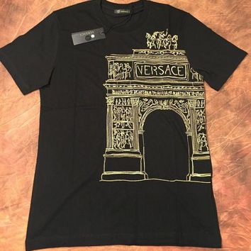 CREYDC0 VERSACE BRAND NEW MEN T SHIRT SIZE M COLOR BLACK GOLD MEDUSA ITALY SUMMER