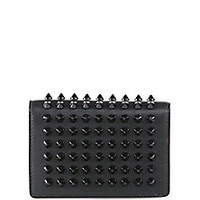 Christian Louboutin - Milos Spiked Leather Foldover Wallet - Saks Fifth Avenue Mobile