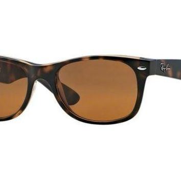 Kalete RAY-BAN NEW WAYFARER 52MM | LIGHT HAVANA / CRYSTAL BROWN | RB2132 710