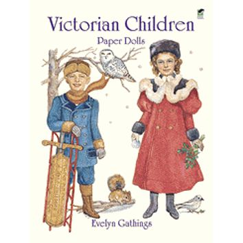 Victorian Children Paper Dolls Girls Tea Party Reusable Activity Set