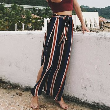 Hot Sale Women's Fashion Stripes Casual Sexy Pants [217288310799]