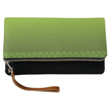 Green Foliage Clutch