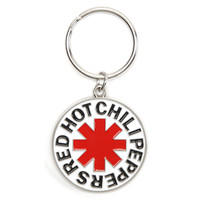 Red Hot Chili Peppers Asterisk Metal Key Chain Silver