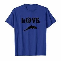 LOVE Dolphins (black lettering)