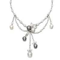 Natural pearl and diamond necklace, circa 1920 | lot | Sotheby's