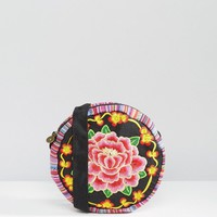 Reclaimed Vintage Embroidered Rose Cross Body Bag