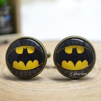 Bat Cufflinks,BatMan Dark Knight Cuff links ,Hero Cufflinks,gift for him,Men Accessories = 1927971844
