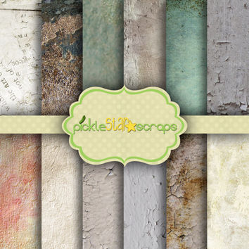 ON SALE Craft Papers 12x12 Wall Papers Brick Printable Wall Backgrounds Brick Texture Wall Papers Brick Texture Textured Wall INSTANTDown