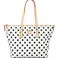 Dooney & Bourke Polka Dot Print Shopper Tote | Dillard's Mobile
