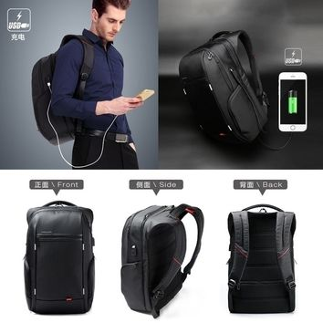 Backpack With USB Charge Antitheft Notebook