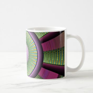 Round And Colorful Modern Decorative Fractal Art Coffee Mug