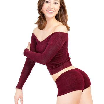 Booty Shorts & Boat Neck Sweater / High Quality / Dancewear