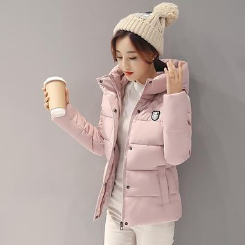 2017 Autumn Jacket Women Uniform Warm Jackets Winter Coat Women Cotton Female Parkas Women winter jacket