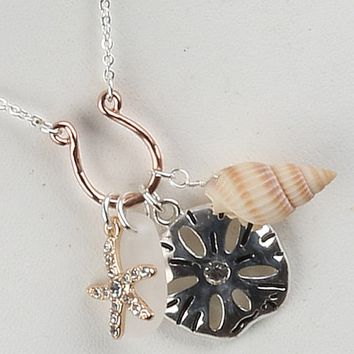 Sealife Charm Necklace Set w/Matching Earrings