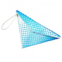 Front Row Shop pearlescent metallic color triangle clutch - Accessories