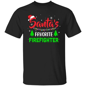 Santa's Favorite Firefighter Funny Christmas Xmas Gifts