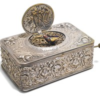 A silver singing bird box, German, 800 standard, early 20th century | lot | Sotheby's