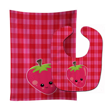 Strawberry Face Baby Bib & Burp Cloth BB6989STBU