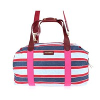 Dolce & Gabbana Multicolor striped boston bag
