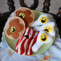Felt Food - Breakfast - Bacon, Egg, & Pancake - Set of 3