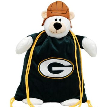 Green Bay Packers NFL Plush Mascot Backpack Pal