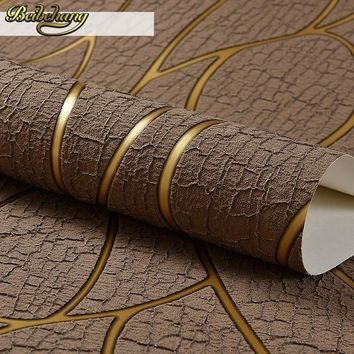 beibehang Deerskin line papel de parede 3D Flocking Wallpaper For Bedroom Living Room Home Decoration 3D Wall Paper roll palace
