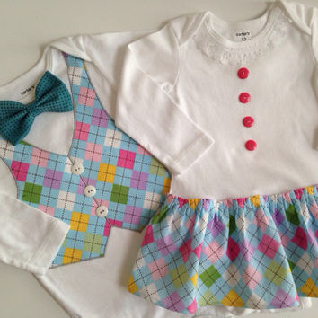 Easter Twins Onesuit, Sibling Easter Outfits, Matching Sibling Outfits, Brother Sister Outfit, Spring Outfits for Siblings
