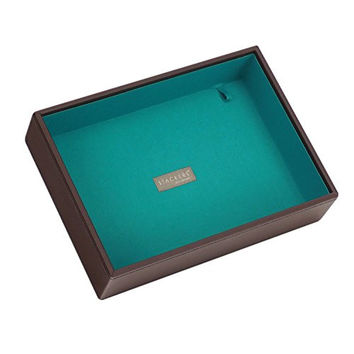 Stackers | Jewelry Box | classic chocolate brown & bright teal deep stacker