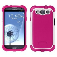 Ballistic MAXX Shell Gell Case for Samsung Galaxy S3 / S III - Pink/White