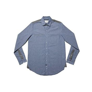 Cliff Blue & Grey Chambray
