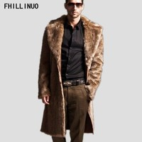 New plus size Winter Men Coat Faux Mink Fur Coat Thick Long Sleeve Natural Fur Overcoat Fashion Talior Made Fur Outerwear jacket