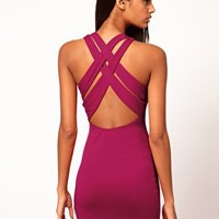 Mini Dress With Cross Back Strap