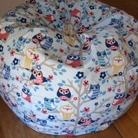 Owls 'Sittin in a Tree' Ball Shaped Bean Bag Chair by crakalaka