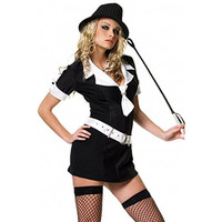 Leg Avenue Womens Gangster Moll Halloween Party Mobster Costume