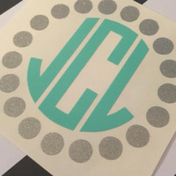 Dot Circle Monogram Decal