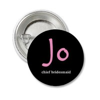 Personalised hens night button from Zazzle.com