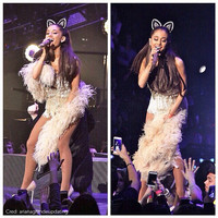 The Classic - Cat Ears - Original Design by LoliMillie - Kawaii Floral Lace Nekomimi Sweet Lolita Gyaru Rave Ariana Grande